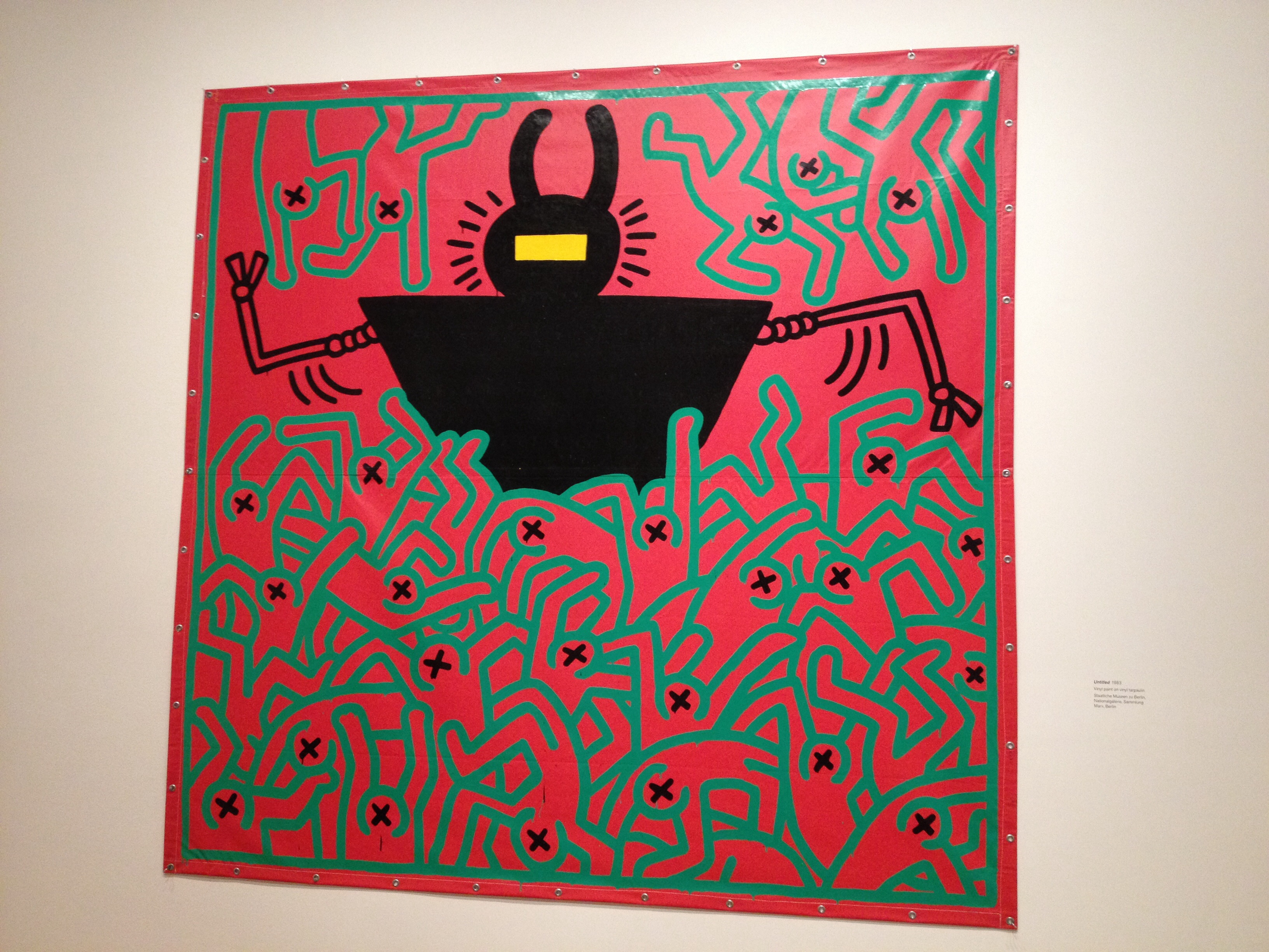 Keith  Haring, Untitled, 1983 The Political Line: Keith Haring, De Young Museum,  San Francisco, Ca.,  November 8, 2014- February 16, 2015